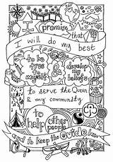 Brownie Brownies Promise Scout Guides Sheet Activities Coloring Guide Colouring Girlguiding Law Crafts Scouts Buxton Thinking Pages Rainbow Daisy Sheets sketch template