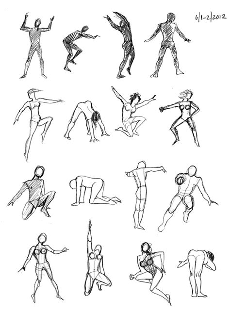figure drawings action figures visual communications