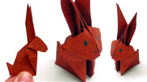 tiere aus papier falten origami tiere falten 06 hase bunny