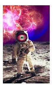 astronaut, digital art, 3D, trippy, psychedelic ...