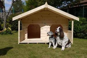 Luxury double dog kennel summerhouse for 2 large dogs for Double dog house for large dogs