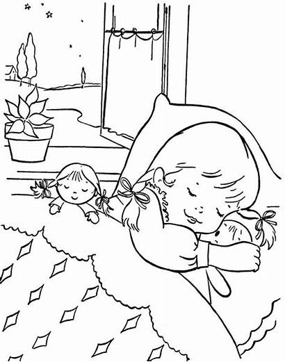 Sleeping Coloring Pages Sleep Christmas Eve Children