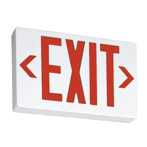 lithonia lighting thermoplastic led emergency exit sign exr led el m6 the home depot