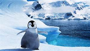Full HD Wallpaper happy feet two amusing penguin iceberg