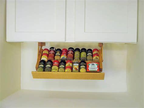creative kitchen storage idea cabinet spice rack