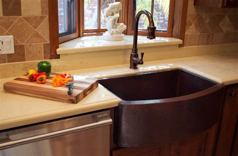 copper sink with stainless steel appliances when and how to add a copper farmhouse sink to a kitchen