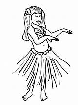 Coloring Pages Hula Hawaiian Dance Hand Performing Wave sketch template