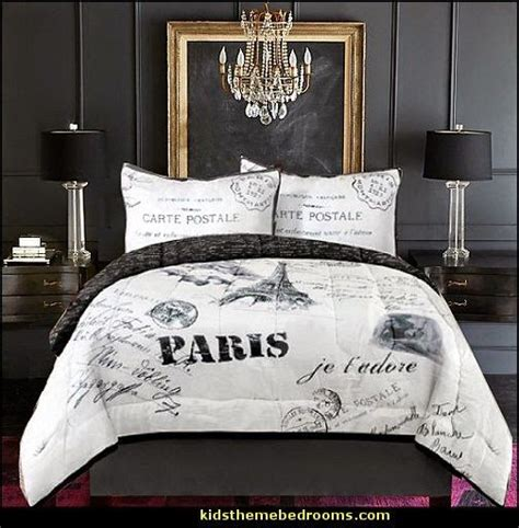 french inspired girls bedroom  gray  red decorating