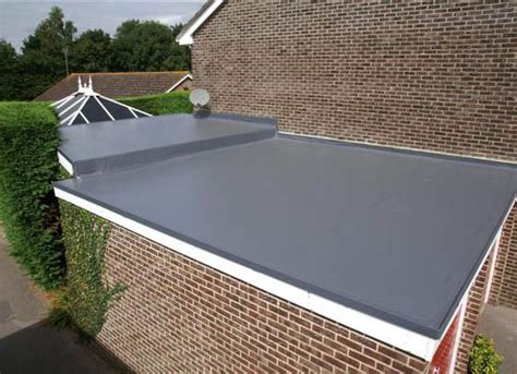 Flat Roof : Single Ply Garage Roofing Installation