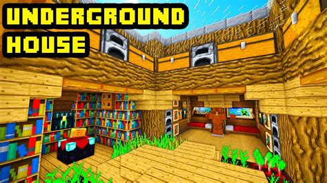 minecraft tutorial advanced underground house build youtube