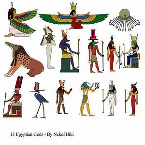 13 Ancient Egyptian Gods and Goddesses - Stock by ...