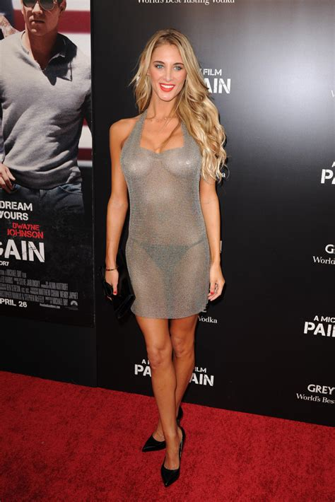 brittany Cole In Red Carpet Arrivals At The Pain And Gain