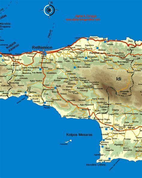 map  crete rethymnon rethymno rethimnon rethimnon
