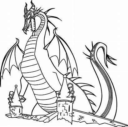 Dragon Sleeping Beauty Coloring Pages Printable Dragons