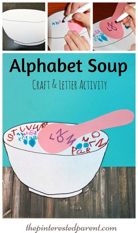 alphabet soup the pinterested parent 497 | Alphabet Soup Craft Letter Writing Activity For Kids a fun way to practice writing their ABCs.