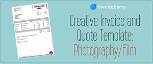 Black Invoice Template Creative Invoice And Quote Template Photography Film