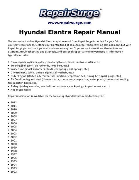 service repair manual free download 1992 hyundai elantra auto manual hyundai elantra repair manual 1992 2012