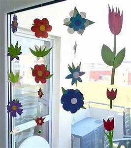 Frühlingsdeko Basteln Vorlagen : fr hlingsdeko fenster mit kindern basteln my blog ~ Lizthompson.info Haus und Dekorationen