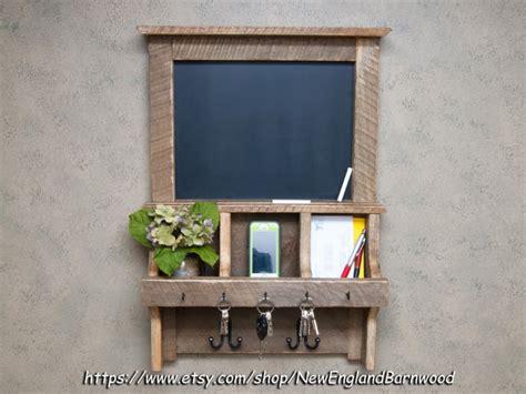 rustic chalkboard mail organizer shanty  chic