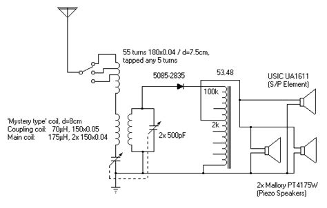 Loudspeaker Crystal Radio Test Construction The