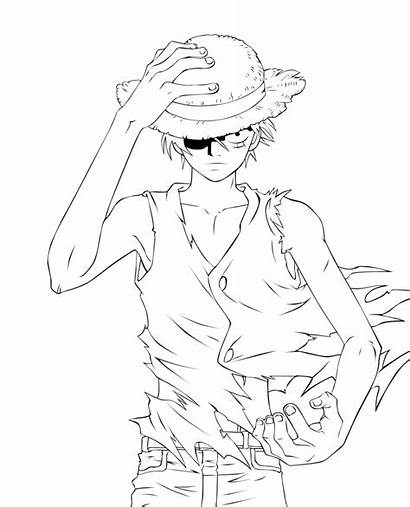 Piece Luffy Coloring Sanji Ace Monkey Pages