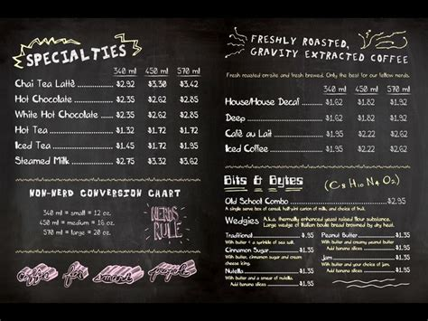 A menu board above or behind your coffee bar is common but not necessarily the only placement opportunity. coffee menu board - Google Search | MC Menuboard | Pinterest | Haha, Love and Nerd