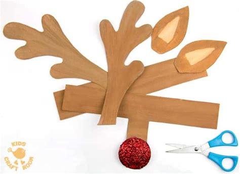 printable reindeer antlers  colour  wear kids