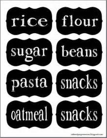 Free Printable Pantry Labels