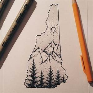 drawing design mountains nature 365 project 365 New ...