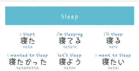 different verb forms of quot sleep quot in