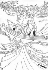 Coloring Legends League Sona Colouring Drawing Designlooter Pixie Kenpachi 88kb 1084px sketch template