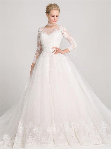 Princess Wedding Dresseslong Sleeves Wedding Gownlace
