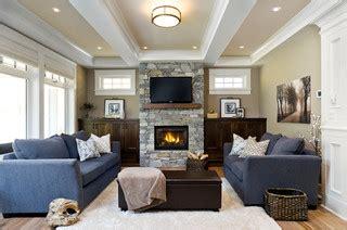 victoria bc luxury craftsman traditional living room