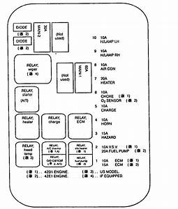 Isuzu Amigo  1994  - Fuse Box Diagram