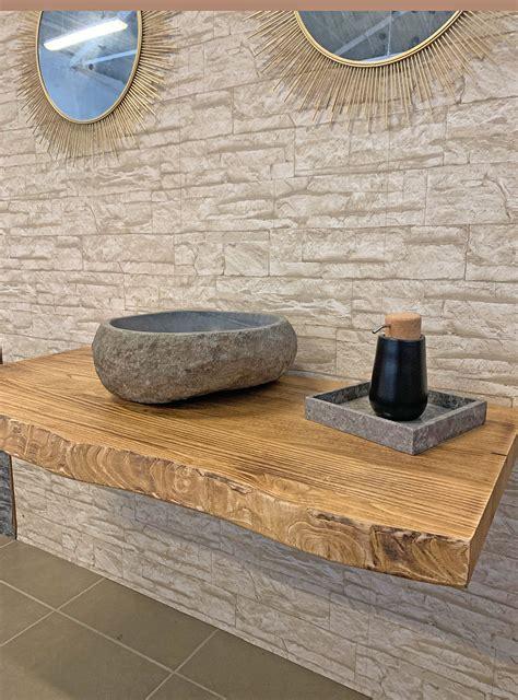 mensola lavabo da appoggio mensola piano per lavabo da appoggio in legno rustico