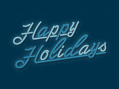 Holidays Happy Holiday Sign Neon Animated Gifs