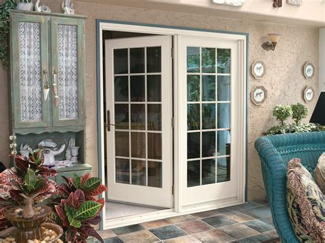hinged french replacement doors renewal  andersen