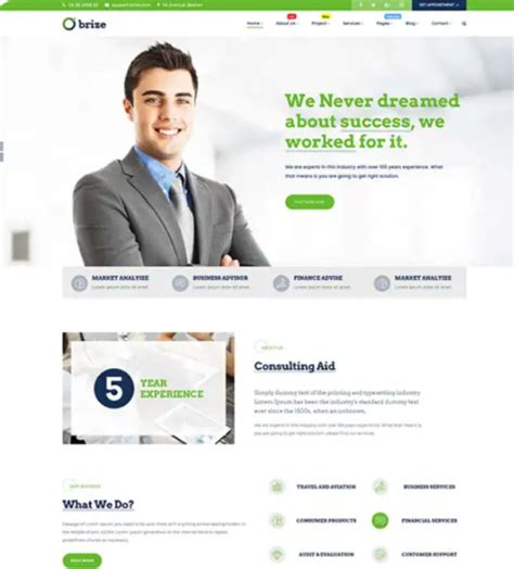 brize template 15 business style themes for 2018 ginva