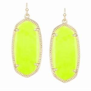 Elle Earrings in Neon Yellow Kendra from Kendra Scott