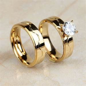 aliexpresscom buy high quality stainless steel gold With high quality cubic zirconia wedding rings