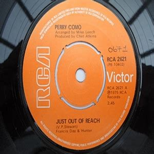 perry como just out of reach cd perry como just out of reach records lps vinyl and cds