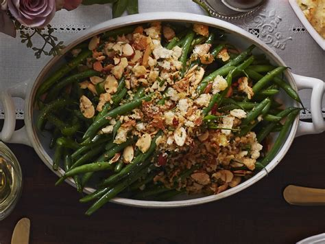 green bean recipes for thanksgiving french green beans with garlicky almond breadcrumbs recipe