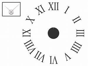 Römische Zahlen Uhr : wandtattoo uhr r mische zahlen wanduhr ~ Orissabook.com Haus und Dekorationen