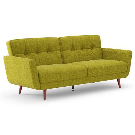 Green Sleeper Sofa by Modern Sleepers Norbert Green Fabric Sofa Eurway