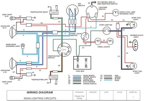 wiring diagram of car headlight wiring diagram and