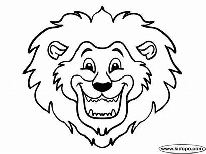 Lion Head Drawing Coloring Cartoon Clipart Face
