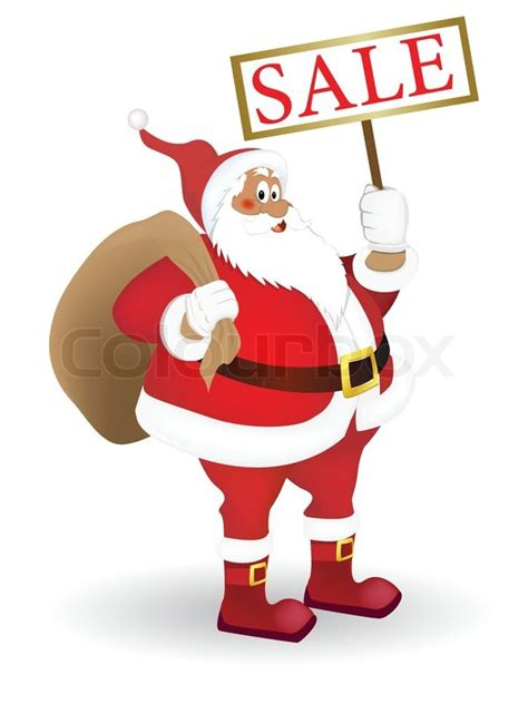 santa claus with a plate quot sale quot stock vector colourbox
