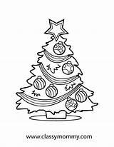 Coloring Printable Gingerbread Tree sketch template