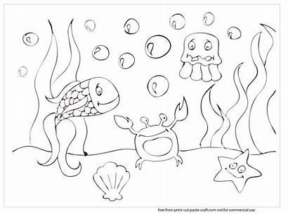 Sea Coloring Under Pages Ocean Printable Scene