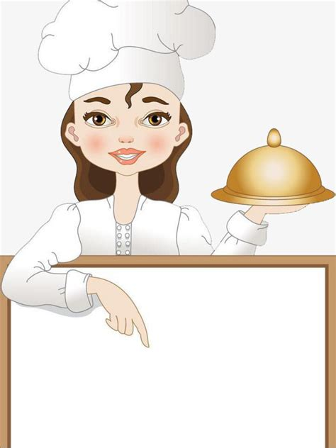 cartoon creative female chef cartoon clipart chef